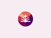 Bible + Cross Logo Design