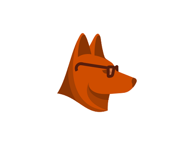 Dingo With Glasses Logo Design