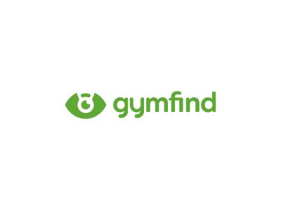 Gymfind Logo Design negative space kettlebell eye find gym branding brand design identity icon logo