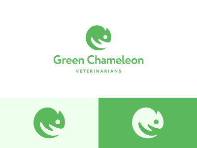 Green Chameleon Veterinarians Logo Design