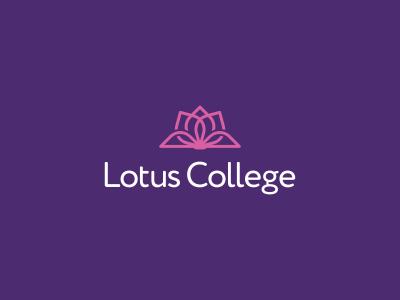 Lotus College Logo Design education pages book bloom flower lotus branding brand design identity icon logo