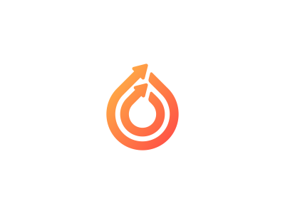 drop arrow logo design concept by dalius stuoka dribbble
