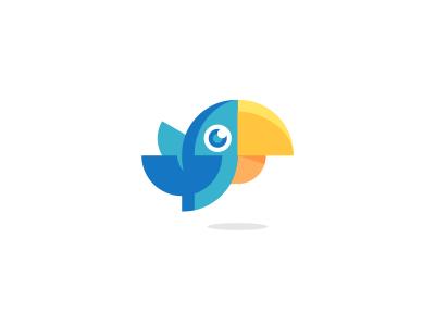Parrot Logo Design nature animal animals wings bird parrot branding brand design identity icon logo
