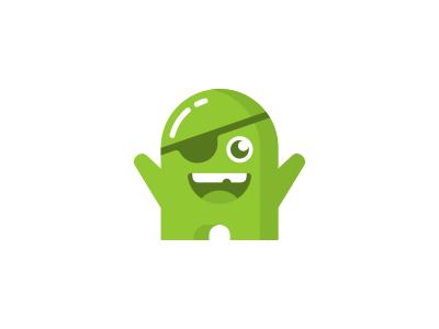 Monster Icon Logo Design friendly smile mascot character green monster icon branding brand design identity logo