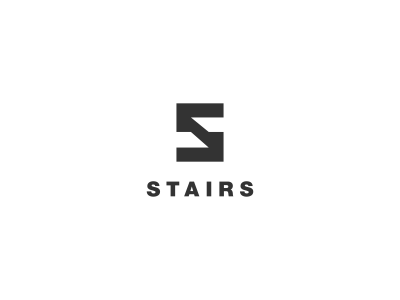 Stairs Logo Design logo designer black negative space hidden design agency freelance logo designer logo design graphic designer clever simple logo stairs s negative space icon