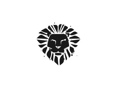 Inklion Logo Design graphic design grunge logomark graphic designer tiger animal design agency freelance logo designer logo design logo designer ink lion logo brand mark spatter black