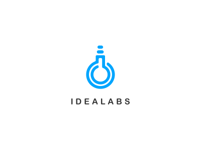 Idealabs Logo Design statoinery stationrey branidng brandign stationry brnading bradning barnding brnad bradn barnd loogdesign lgoodesign logo deisgn desgn logotpye deisgner dsgner deisgn logog design desgin loog lgoo lgo loogtype idea lab flask bulb logo design simple potion clever combo ideas logo icon light blue