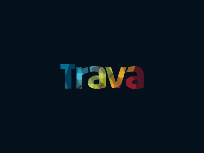 Trava Logo Design simple pot spectre graphic designer graphic design freelance designer colorful intersect rainbow design agency freelance logo designer logo design logo designer clever weed lights logo trava high psychedelic wordmark colors stoned