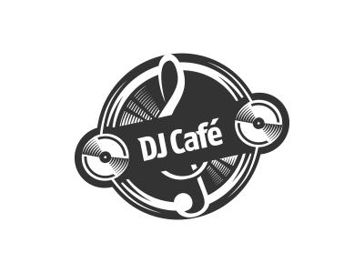 DJ Cafe Logo Design by Dalius Stuoka - Dribbble