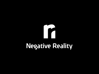 Negative Reality Logo Design design agency logo design graphic designer freelance designer genius negative space logo designer graphic design clever overlap simple intersect freelance logo designer illustrative designer clever designer web designer symbol designer typography symbol icon designer type designer logo icon monogram n r negative space reality black
