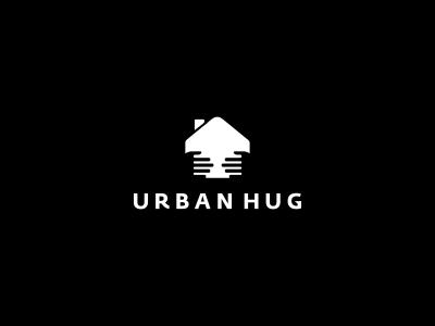 Urban Hug Logo Design design agency logo designer graphic designer graphic design negative space clever simple freelance logo designer logo design freelance designer logo icon boobies hug hands negative space house charity fund panties