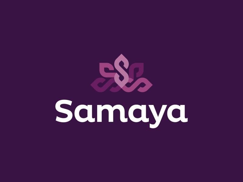 Samaya Logo Design finance nature flower lotus s purple branding brand design identity icon logo