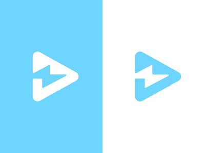 Bolt Logo Design negative space blue voltage electricity bolt lightning branding brand design identity icon logo