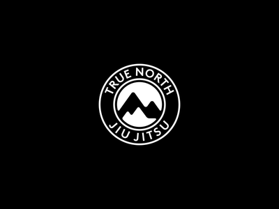 True North Jiu Jitsu Logo Design martial arts mma nature negative space mountains mountain branding brand design identity icon logo