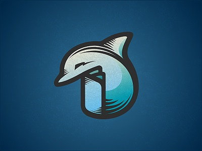 Dolphin Logo Design logo icon design logo designer logo design graphic designer freelancer freelance dolpin sea creature fin book blue studio cyan gradient paper friendly water fluid design agency freelance logo designer ocean underwater pages intelligent line shading tail bolt