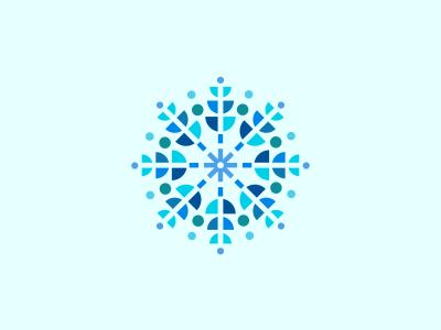 Snowflake graphic graphic design absstract logo icon snowflake star winter christmas snow pattern symbol design icons blue designer design agency logo designer logo design graphic designer