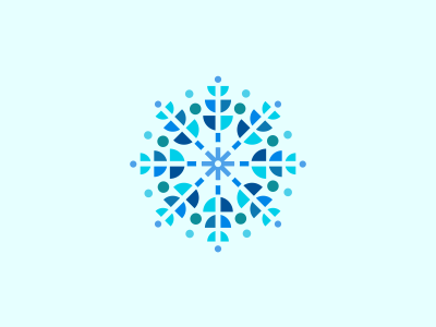 Snowflake graphic graphic design absstract logo icon snowflake star winter christmas snow pattern symbol design icons blue designer design agency logo designer logo design graphic designer