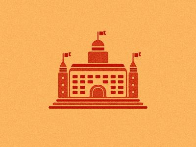 Castle logo icon icons castle old medieval design building structure orange designer graphic freelancer