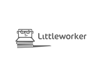 Littleworker Logo Design logo icon design icons illustration mark symbol used laptop online shop designer agency graphic smart character books