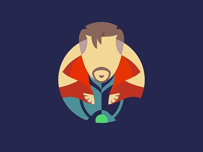 Doctor Strange Icon marvel sci-fi film movie doctor strange negative space illustration design icon