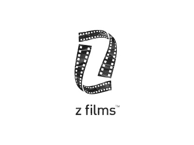 Z Films Logo Design logo icon icons design mark negative space z films pictures images video clever hidden