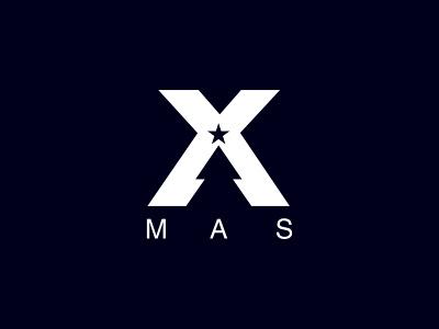 X-Mas logo christmas xmas icon icons design illustration tree star jesus religion holiday negative space designer freelance graphic clever