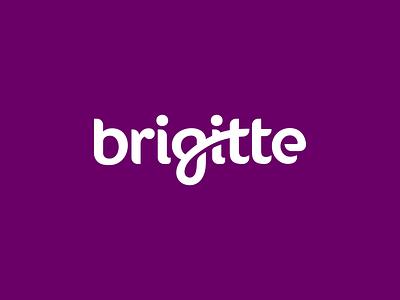 Brigitte Logo Design custom calligraphy typography wordmark brigitte branding brand design identity icon logo