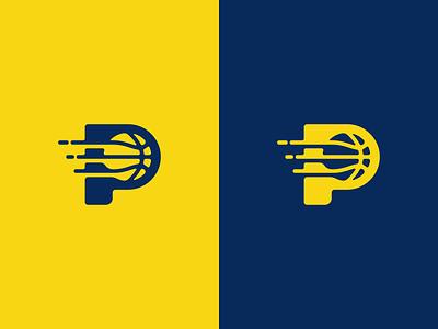 Pacers Basketball Logo Design t h e q u i c k b r o w n f o x j u m p e d o v e r l a z y d o g yellow ball pacers sports basketball branding brand design identity icon logo