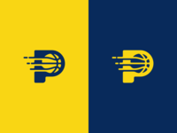 Pacers Basketball Logo Design
