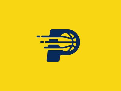 Pacers Basketball Logo Design t h e q u i c k b r o w n f o x j u m p e d o v e r l a z y d o g gaming esports esport yellow ball pacers nba sports basketball branding brand design identity icon logo