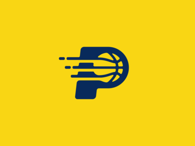 Pacers Basketball Logo Design gaming esports esport yellow ball pacers nba sports basketball branding brand design identity icon logo
