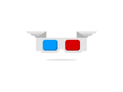 Angel 3D glasses WIP logo icon icons design glasses 3d double decision mark wip red blue wings angel fly float