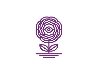 Eye fractal lineart nature flower eye illustration branding brand design identity icon logo