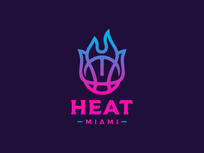 Miami Heat Logo Design By Dalius Stuoka Logo Designer On Dribbble