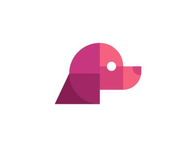 Geometric Dog Logo Design