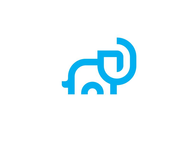 Elephant Logo Design nature safari africa ear elephant animals animal blue graphic designer logo designer icons monogram mark branding brand identity design icon logo