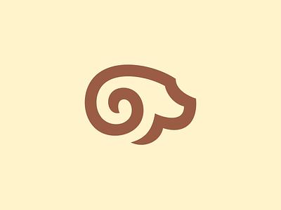 Ram Logo Mark Design logo icon design identity brand branding mark logo designer graphic designer head ram horn horns nature animal animals brown