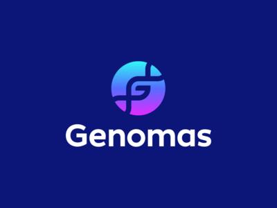 Genomas Logo Design chromosome strip genetics hospital health medicine medical g dna logo designer monogram mark branding brand identity design icon logo