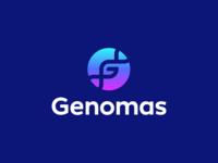 Genomas Logo Design