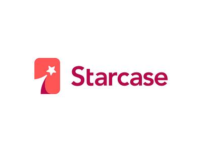 Starcase Logo Design cases phone case phone mobile sky dynamic space cosmos star ui illustration negative space icons mark branding brand identity design icon logo