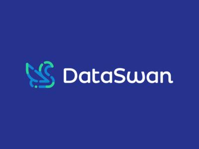 Data Swan bird animals nature swan tech technology it information data ui clever logo designer icons mark branding brand identity design icon logo