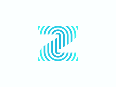 Z id stationery identification resonate finger digital wave fingerprint touch ui monogram icons mark branding brand identity design icon logo