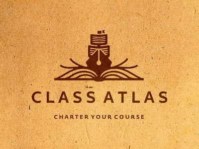 Class Atlas Logo Design (WIP) staitonery statoinry statiorny branidng brandign stationry brnading bradning barnding brnad bradn barnd loogdesign lgoodesign logodesing logo deisgn desgn desgin deisgner dsgner deisgn loog lgoo lgo logog design lgo design ship pen book paper sheet page pages brown nautical marine knowledge