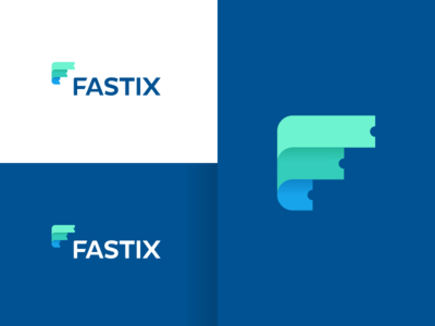 Fastix tech fintech technology creative startup financial advertising ad marketing mobile phone online app apps application colorful colored colors crypto cryptocurrency blockchain insurance finance security digital smart clever tickets event events f monogram ticket business cards stationery icon icons symbol brand branding identity graphic design designer logo