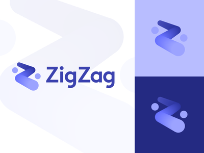 ZigZag phone ios ui application apps mobile security finance insurance fintech technology app navigation gps guide gradient gradients purple 3d depth effect digital colorful colourful vibrant modern dynamic icon icons symbol business cards stationery brand branding identity design designer graphic logo