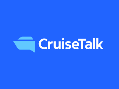 Cruise Talk Logo Design tech fintech technology finance insurance security modern vibrant digital chat forum reviews talk speech bubble sea ocean water cruise ship boat geometry geometrical geometric business cards stationery clever smart creative minimal minimalism minimalistic icon icons symbol brand branding identity graphic design designer logo