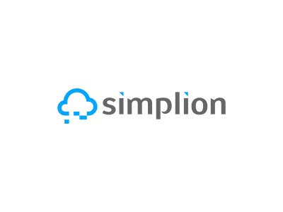Simplion logo icon icons design simple on simplion cloud computing consulting consultancy tech typography type agency designer stuoka blue clever branding identity brand