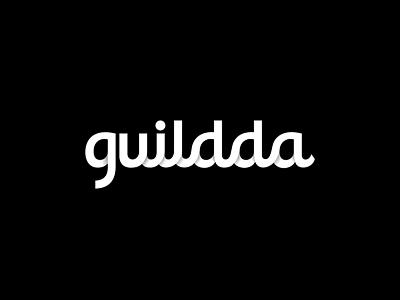 Guildda Logo Design logo icon icons design guildda black shadow shading brand identity utopia stuoka typography calligraphy type