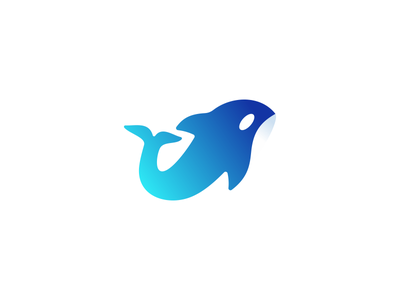 Orca Logo Design whale orca dolphin tech fintech technology modern vibrant digital icon icons symbol graphic design designer ocean sea wave animal animals nature geometry geometric clever smart creative business cards stationery brand branding identity logo