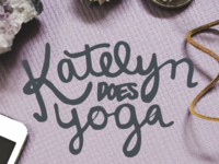 Katelyn Does Yoga Hand Lettering